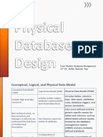 2 - Physical DB Design