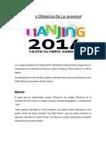 Juegos Olímpicos de La Juventud(Terminado)