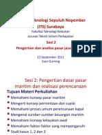 Analisa Pasar Jasa Maritim 13 Sept 2011