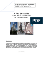 A Pro Se Guide in Federal Court
