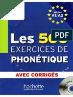 Les 500 Exercices de Phonetique PDF