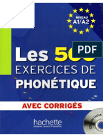 Les 500 Exercices de Phonetique PDF