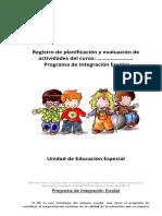 Programa de Integración Escolar Libro