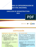 Criterios Para La Categorizacion de La Red Vial Nacional