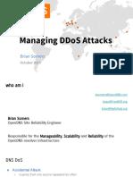 DNS-oarc-2015 - Managing DDoS Attacks - Slides - NOLOGO v2