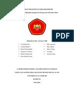Laporan praktikum farmakokinetik (penentuan profil farmakokinetik)