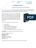 ElectroCraft PMDC Drives New Product Press Release