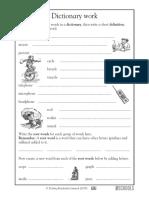 Dictionary Worksheet