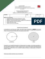Guia de Perimetro y Area de Circunferencia y Circulo