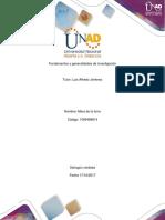 Fundamentos y Generalidades de Investigacion Mara
