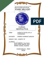 Aspecto Social de La Humanidad Monografia Cesar Vallejo