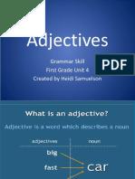 Grammar Adjectives