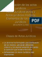 2DA CLASE Clasificacion de Los Actos Juridicos