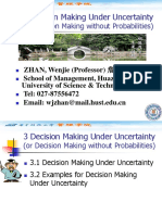 3 Decision Making Under Uncertainty