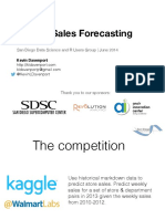 Weekly Sales Forecasting -  Factorization Machines