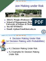 4 Decision Making Under Risk
