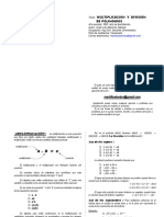 Multiplicacion y Division Polinomios