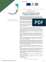 Declaracion Europea Palliative Care 2020