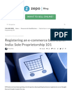 Registering an E-commerce Business in India Sole Proprietorship 101 Zepo the ECommerce Blog for Indian Online Sellers