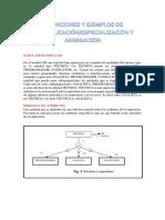 DEFINICIONES Y EJEMPLOS DE GENERALIZACIÓN