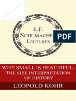 Why Small is Beautiful the Size interpretation of history