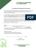 Autorizacion Proteccion de Datos Alumnos