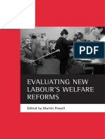 Evaluating New Labour 039 s Welfare Reforms