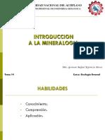 Clase 14 Introduccion a La Mineralogia
