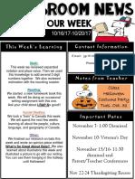 weekly newsletter  powerpoint  16-20
