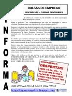 Comunicado CIG Ós Traballadores- Bolsas Emprego