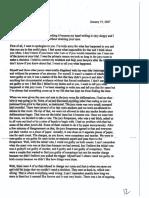 Juror Jarid Hardee Letter to Kimberly Renee Poole
