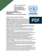 UN staff members in Somalia mark UN Day