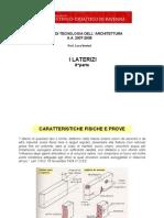 ELEMENTI DI TECNOLOGIA DELL' ARCHITETTURA - LATERIZI