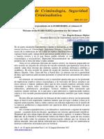 Bienvenida del presidente de la SOMECRIMNL al volumen IX