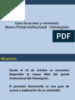Guía de Acceso y Contenido Del Nuevo Portal Institucional Osinergmin FP