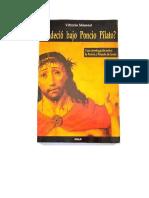 Messori Vittorio - Padecio Bajo Poncio Pilato.doc