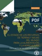 Estado Rec. de Tierras y Aguas Del Mundo_FAO_2011