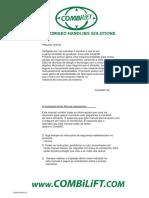 COMBILIFT Manual de Operação -C6000 (Tradução Mecânica)