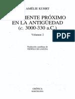 Kuhrt El Oriente Proximo en La Antiguedad 2(c. 3000-330 a.C)
