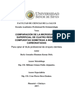 Comparación de La Microdureza Superficial de Cuatro Resinas Compuestas Sometidas a Bebidas Carbon