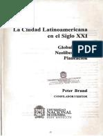 Brand La Ciudad Latinoamericana en El Siglo Xxi