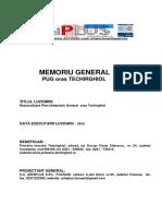 Memoriu General PUG Techirghiol Final