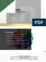 edt 180 social media presentation assignment-linkedin