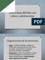 Entrevistas dif+¡ciles con ni+¦os y adolescentes