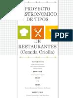 Proyecto Gastronomico ppt