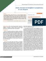 Autoimmune Hemolytic Anemia in Hodgkin's Lymphoma