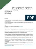 2017 Reglamentacion de La Ley 27.350 Uso Medicinal Del CAnnabis