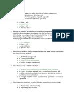 ITIL Questions