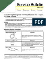 Quicksilver Digital Diagnostic Terminal (DDT) Scan Tool Support Bulletin No. 2010-02