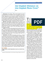 The Effect of Inter-implant Distance on the Height of Inter-implant Bone Crest. - Tarnow, Cho, Wallace - 2000